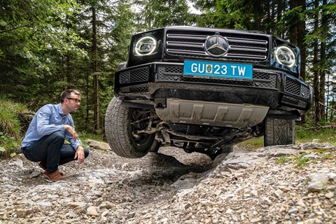 Axle articulation on the new 2019 Mercedes-Benz G-Class