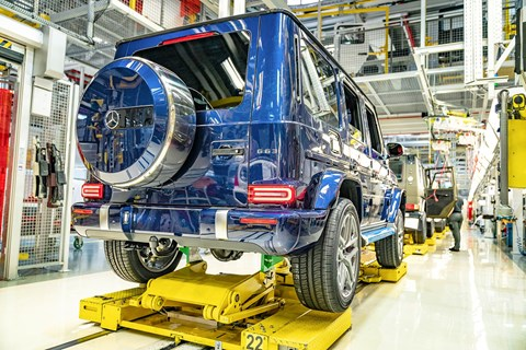 Mercedes-AMG G63 at the Graz factory in Austria