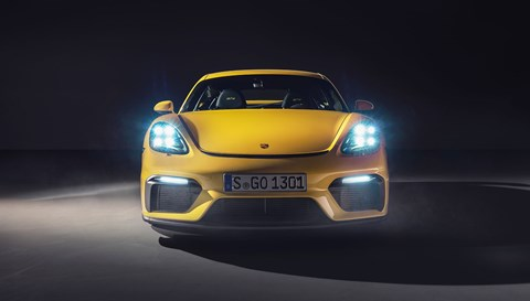 Front of the new Cayman GT4: the purest mid-engined Porsche yet?