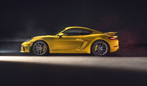 Side profile: the new 2019 Porsche 718 Cayman GT4