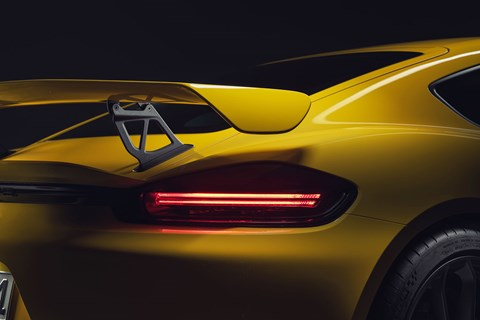 Rear wing on new Porsche 718 Cayman GT4