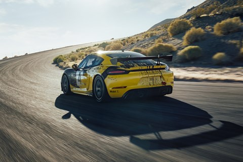 Cayman GT4 Clubsport rear cornering
