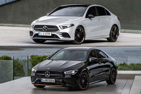 CLA vs A-Class saloon front