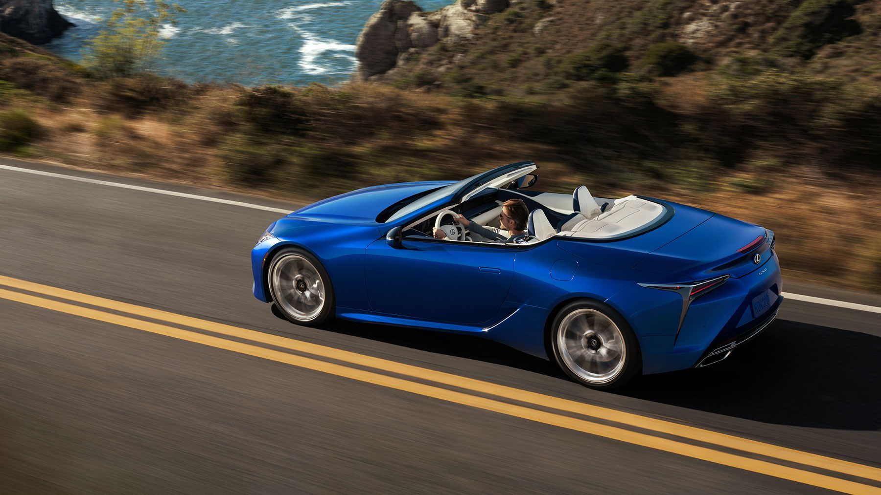 Lexus LC Convertible blows in to LA motor show