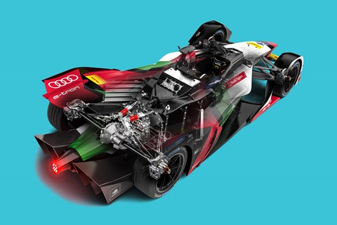 Formula E 2019 car illustration