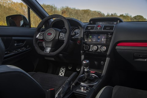 Subaru STI S209 interior and cabin