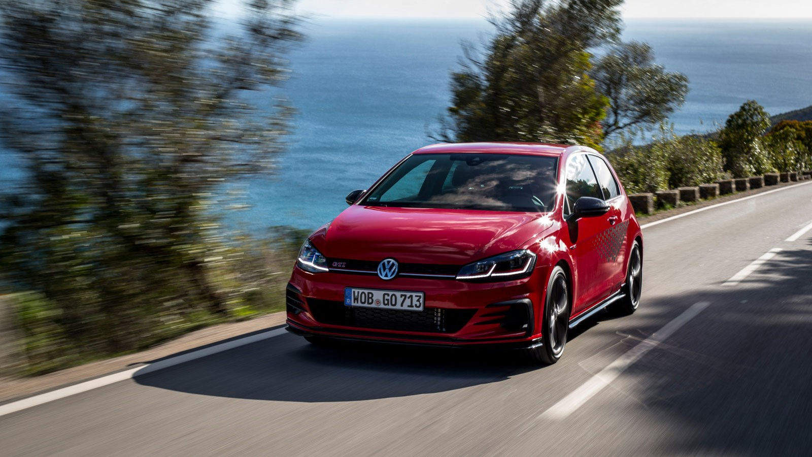 vw golf gti tcr review car magazinethe vw golf gti tcr on the road