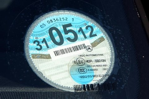 UK car tax disc