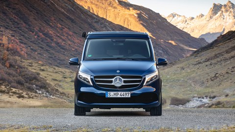 The new, facelifted Mercedes V-class