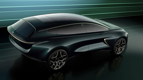 Aston Martin Lagonda All-Terrain Concept - top view showing glass roof