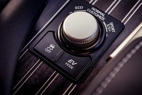 Driving modes on our Lexus RX: better leave it in Automatic then...