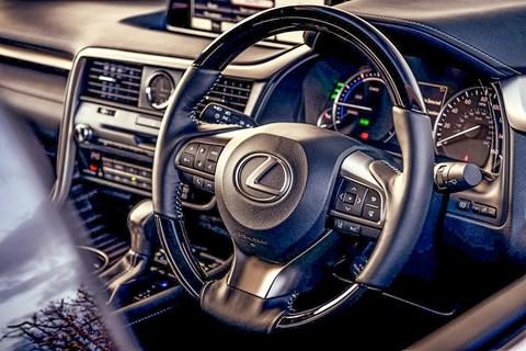 Lexus RX L wooden steering wheel