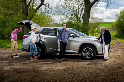 CAR magazine readers meet the Lexus RX L: Richard Luff, Lucy Cardew and Ian Hamilton