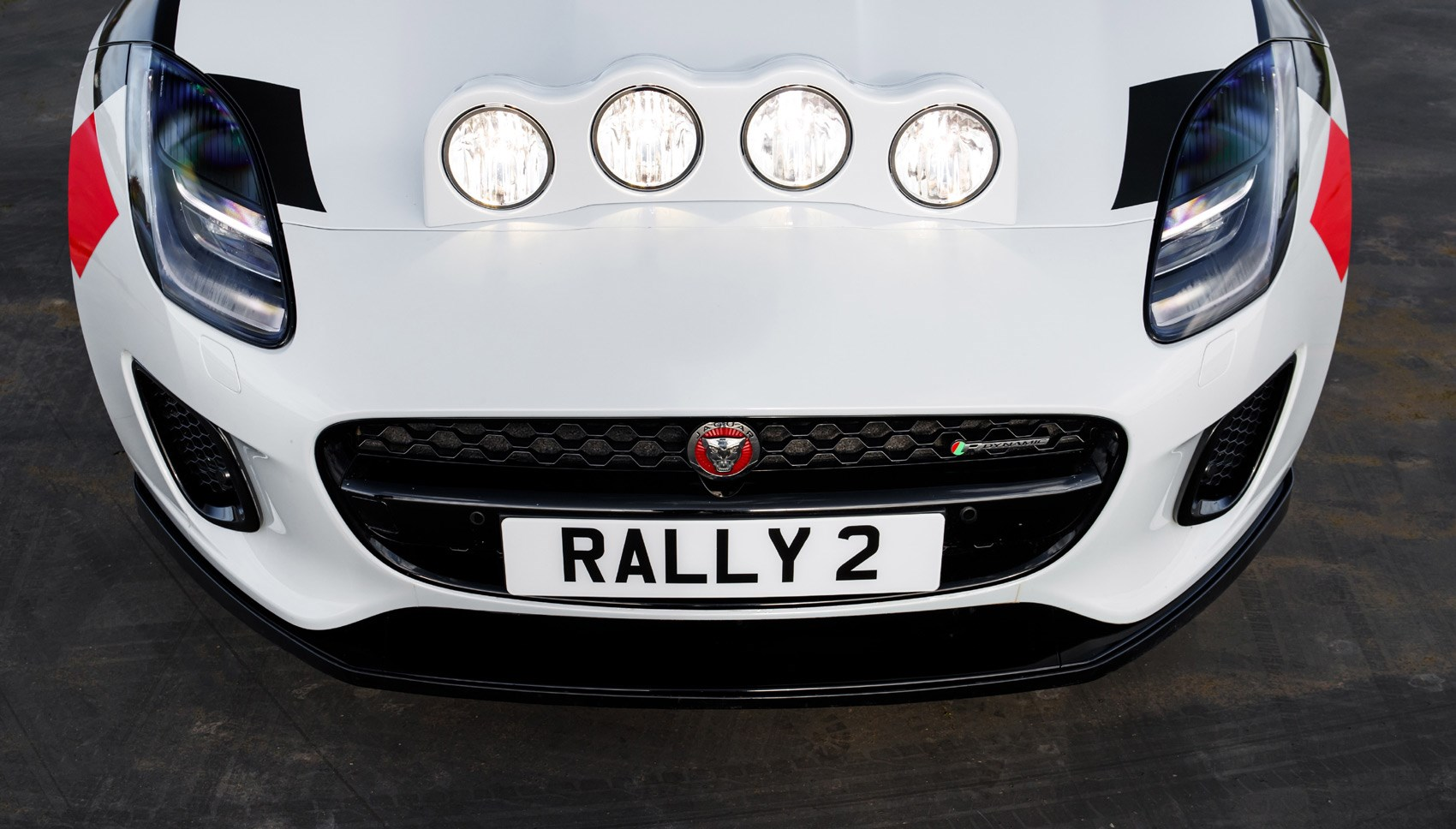 F-Type Rally headlights