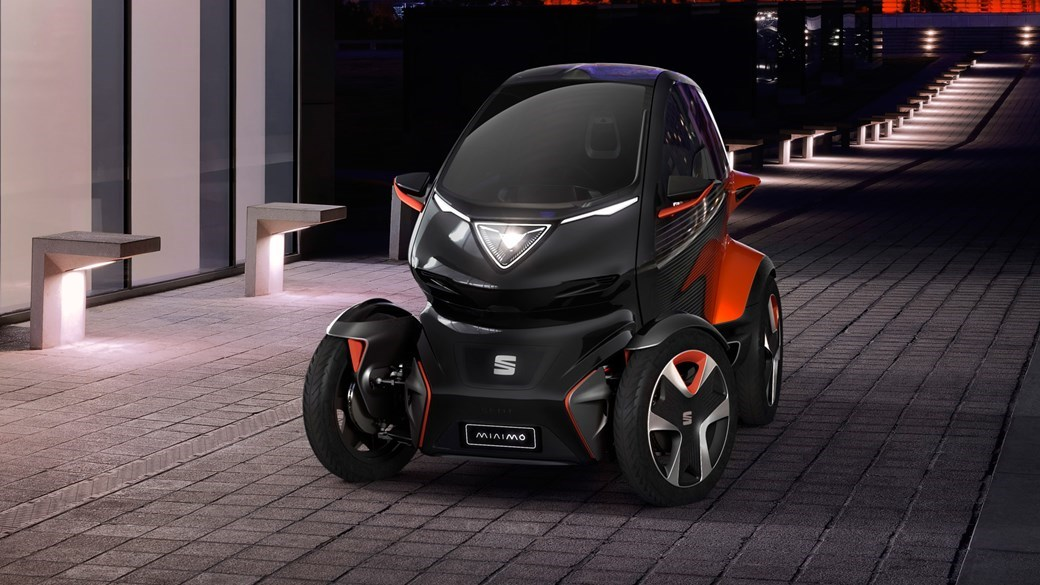 You Re Looking A The Seat Minimo New Twizy Style Concept Car Not Unveiled At Geneva But Mobile World Congress Or Mwc Says All Electric