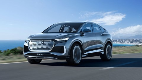 Grey Audi Q4 e-Tron concept