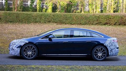 Mercedes-Benz EQS spy shot