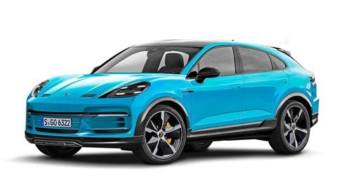 Porsche Macan electric artist's impression