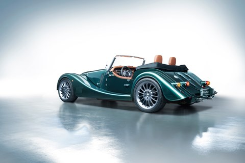 Morgan Plus Six green rear
