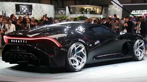Bugatti Voiture Noire at the 2019 Geneva motor show - rear view