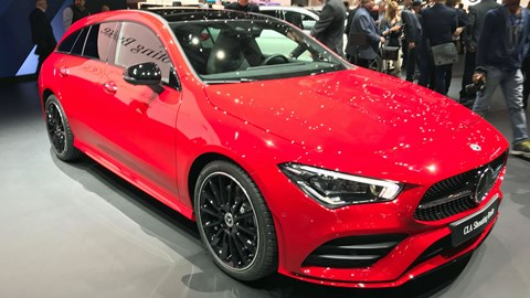 Mercedes-Benz CLA Shooting Brake at the 2019 Geneva motor show - front view