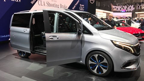 Mercedes-Benz EQV at Geneva - side view