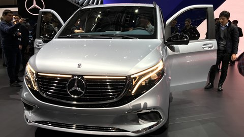 Mercedes-Benz EQV at Geneva - front view
