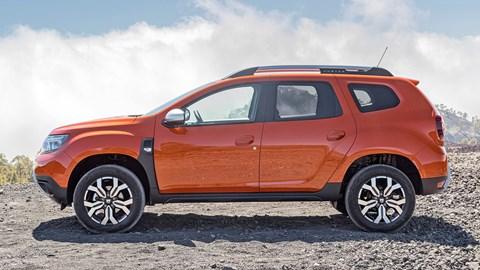 Orange 2021 Dacia Duster facelift