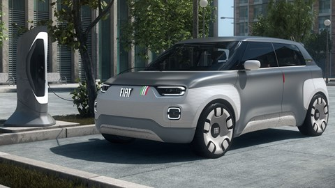 Fiat CentoVenti Concept - plugged into a charging point