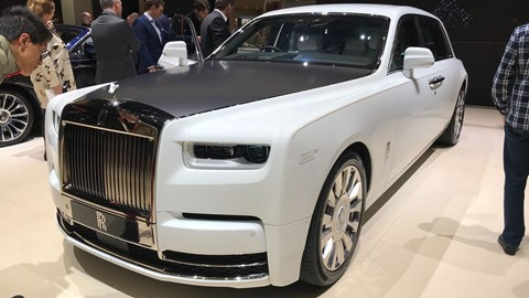 Rolls-Royce launches Bespoke programme at Geneva 2019 - Phantom Tranquility front view