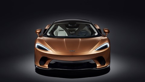 The new McLaren GT from the front