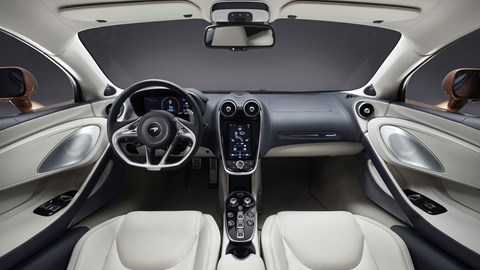 Here's the interior of the new McLaren GT. Plush meets supercar