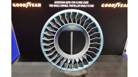 Goodyear Aero flying wheel concept at the 2019 Geneva motor show
