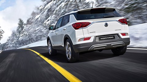 SsangYong Korando - rear view, driving