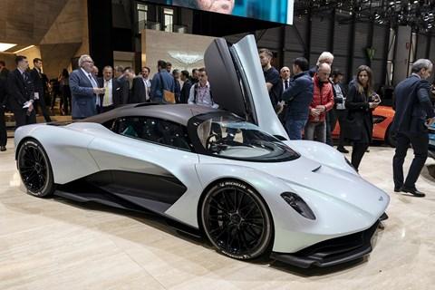The Aston Martin Project 003 at the 2019 Geneva motor show
