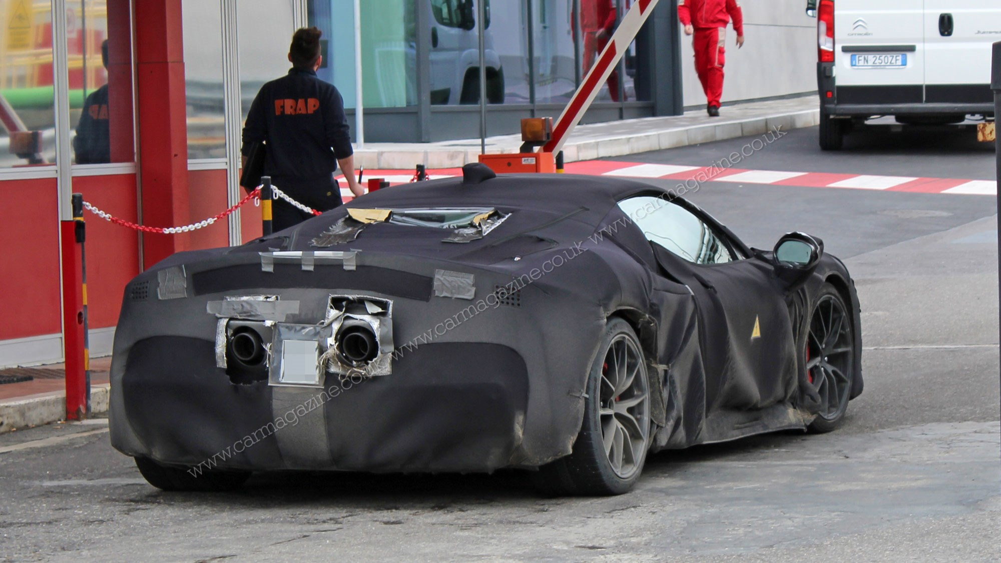 Ferrari Hybrid V6 New Electrified Supercar Spotted Car Magazine