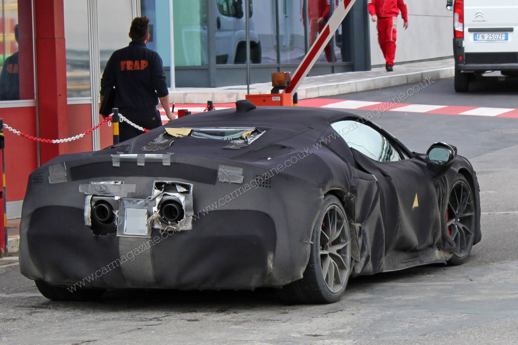 Ferrari Hybrid V6 New Electrified Supercar Spotted Car Magazine