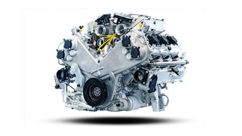 The Aston Martin V6 hybrid powertrain