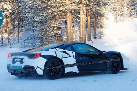 Ferrari hybrid v6 mule
