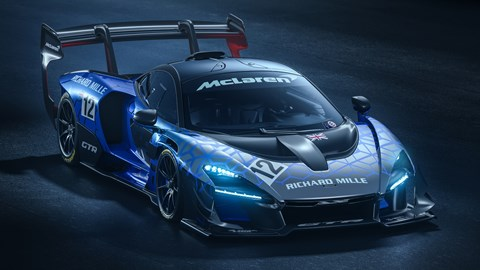 Race-ready aero on the McLaren Senna GTR