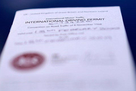 Three types of International Driving Permit: the 1926, 1949 and 1968 licences