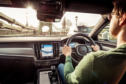 Volvo S90 interior driving