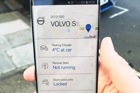Volvo On Call app in our S90
