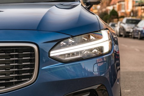 Volvo S90 long-term headlight