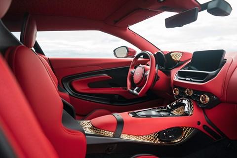 DBS GT Zagato interior