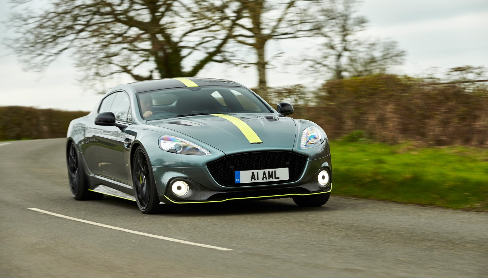 Aston Rapide AMR front cornering