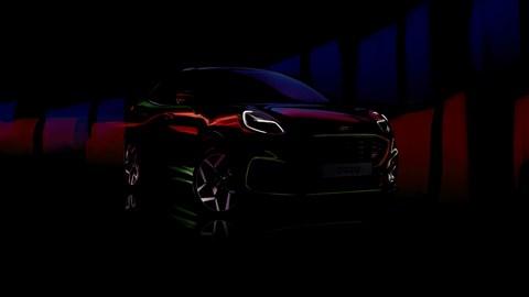 Ford Puma ST shadowy teaser photo
