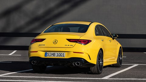 CLA 35 gets more exhaust and much more diffuser