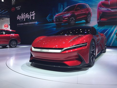 BYD E-Seed GT electric supercar at 2019 Shanghai motor show