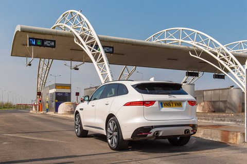 F-Pace toll booth